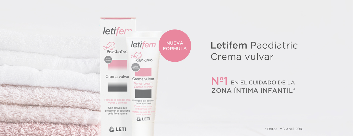 Banner LETIFEM Crema vulvar pediátrica nueva fórmula mayo 18