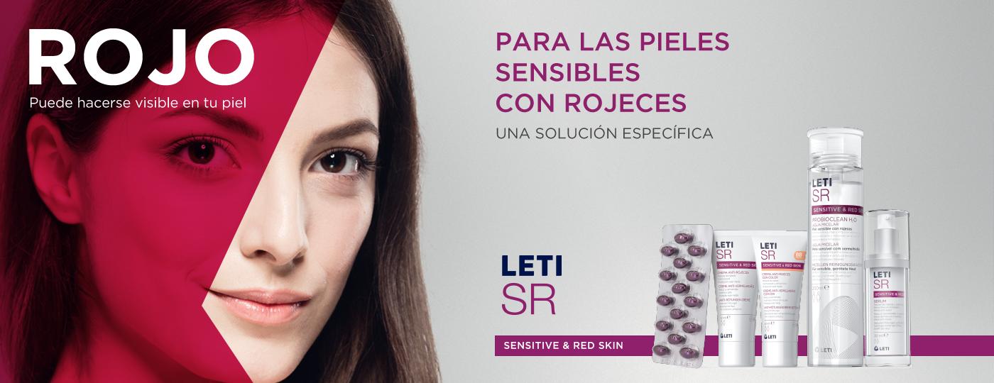 LETISR solución específica para la piel sensible con rojeces