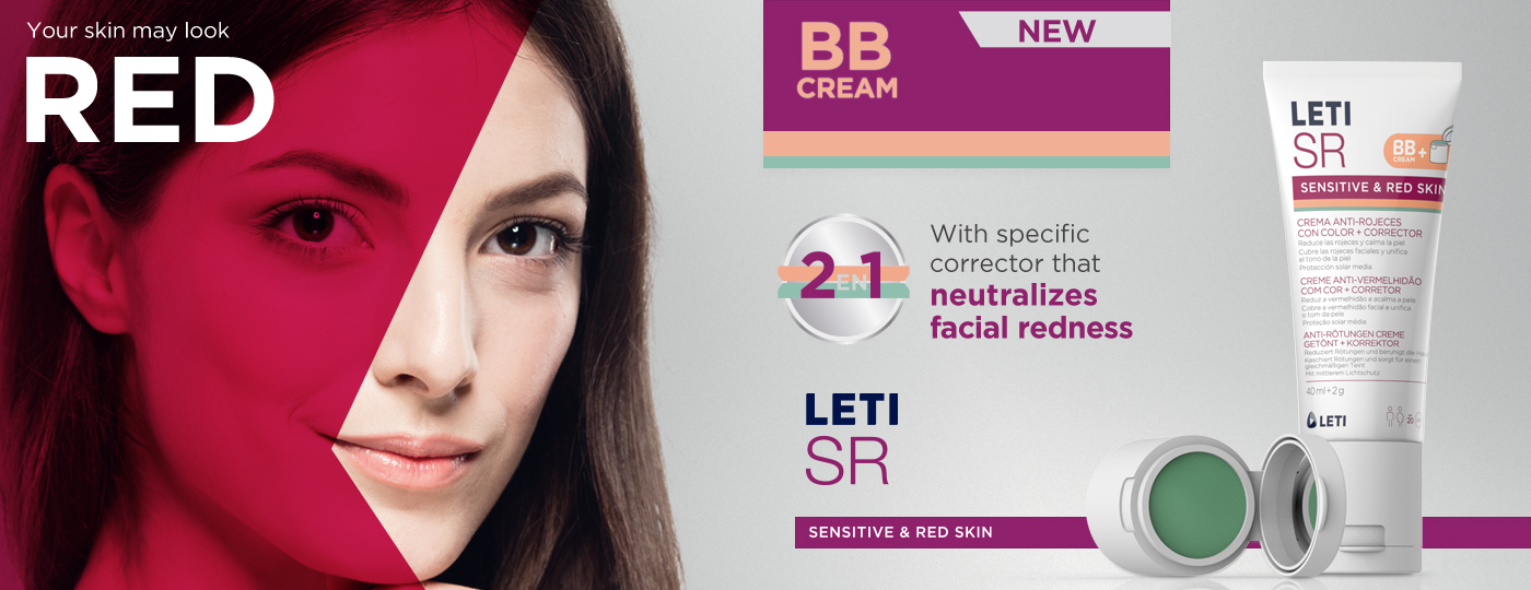 LETISR tinted anti-redness cream with corrector