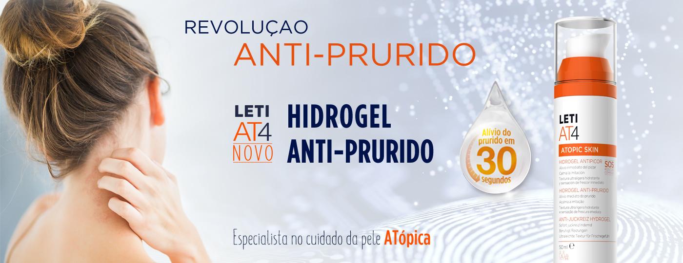 Hidrogel anti-prurido LETIAT4, a revolução anti-prurido