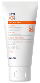 LETIAT4 facial cream for atopic skin sun protection SPF20 50ml