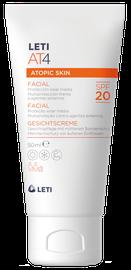 LETIAT4 crema hidratante protección solar facial para piel atópica 50ml