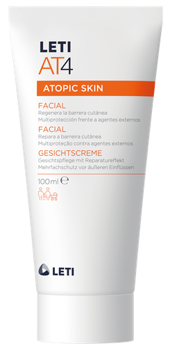 LETIAT4 crema hidratante facial para piel atópica 100 ml