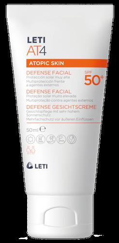LETIAT4 proteção solar facial para a pele atópica SPF50 50 ml