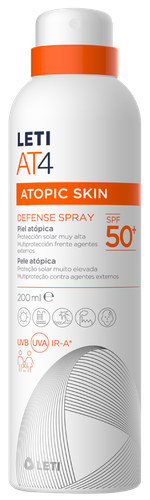 LETIAT4 protección solar facial para pieles atópica SPF50 spray 200 ml