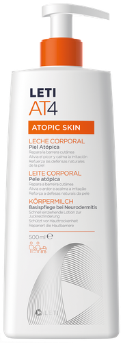 Leti AT4 body milk for atopic skin 500ml