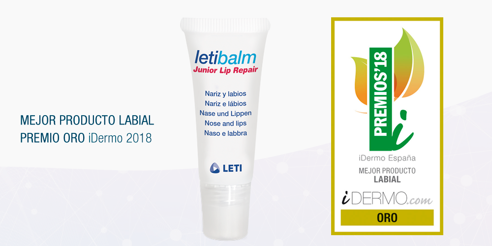 Letibalm Junior Lip Repair gana el premio iDermo ORO