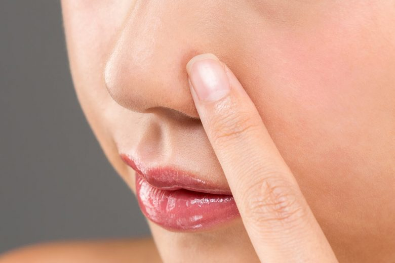 piel seca nariz